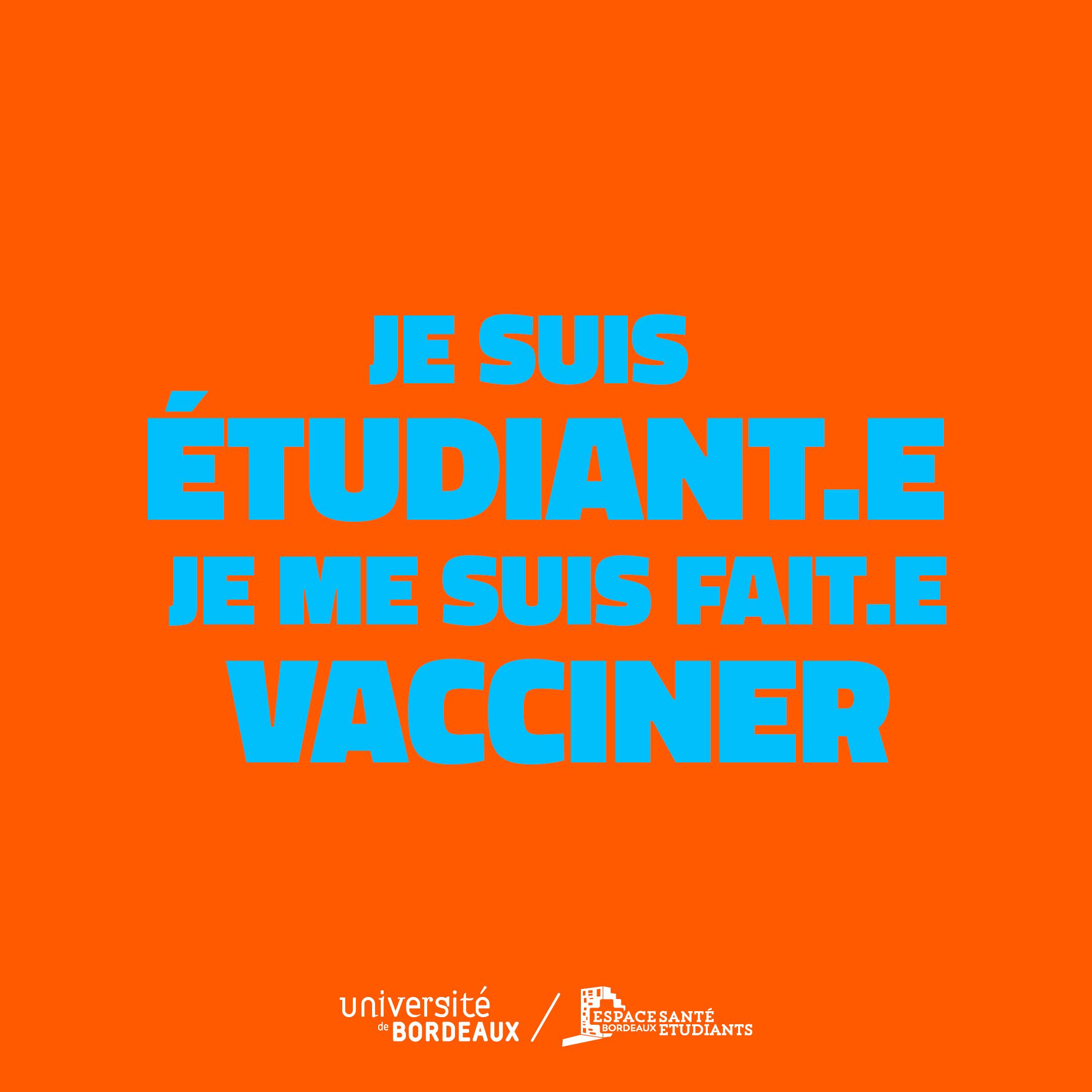 etudiant vaccination